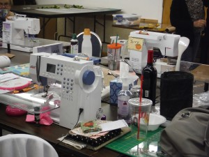 It takes a lot of sewing machines.